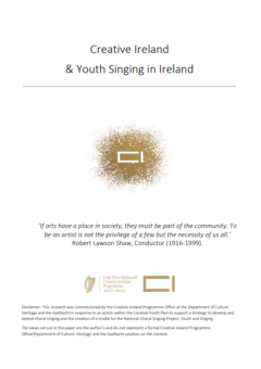 Creative Ireland & Youth Singing in Ireland File
