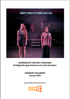 Tenderfoot Moving Forward: Bridging the gap between arts and education File